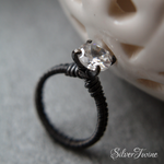 White Sapphire Ring by SilverTwine