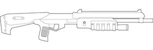 Halo M90 MK1 Lineart by MasterChiefFox