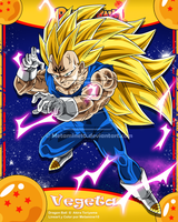 DB Heroes Majin Vegeta ssj3 by Metamine10
