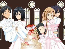 .: SAO + SNK : Wedding :. by Sincity2100