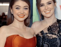 ZD and SH on the LA Vampire Academy Premiere by NinaDanvers