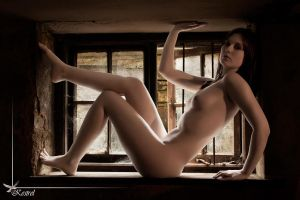 Window nude by Raspberry-Jam-Model