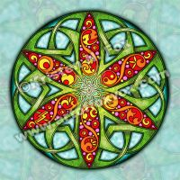 Celtic Summer Mandala by foxvox