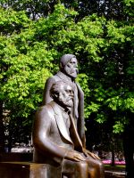 Marx and Engels by Grey8Wolf