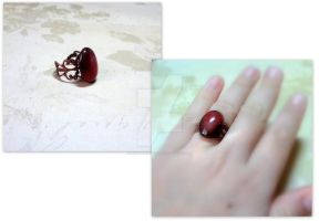 vintage ring with carnelian by Nektaria-Ya
