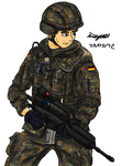 Bundeswehr soldier by NDTwoFives