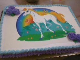 Work: Photo cake Unicorn by Bake-a-saur