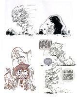 Various sketch from Lucca Comics 2011 by OniBaka