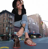 Giantess Joy in NY by lowerrider