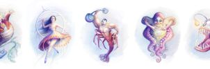 Cirus Subaqueous Characters by escume