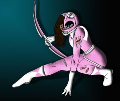 Battle Damaged Pink Ranger by Gageous