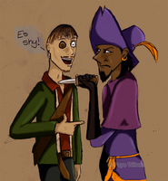 Clopin and Ragetti: Shy by Violet--Gypsy