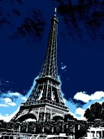 Blue Eiffel Tower by Smilkman