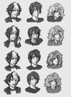 expressions sheet 8D by hellangel