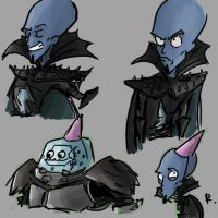 Megamind, sketch by Ayej