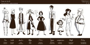 Character Line-Up by MarionetteDolly