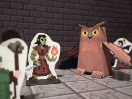 Pixel Dungeon 3D monster preview: Owlbear by Zombie-Kawakami