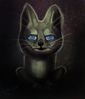 THE GREEN CAT by hummeri9
