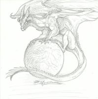 Orb Dragon by RoomsInTheWalls