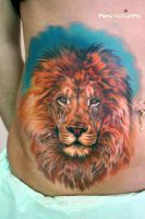 lion tattoo by NikaSamarina