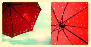 red umbrella in the sky... by catpuff-noir