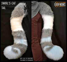 Swirl's tail -commission- by TrelDaWolf