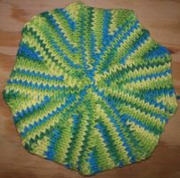 Tunisian Crochet Potholder by woozalia