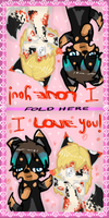KalaxLakalir Valentine Card by KittenthePsycho