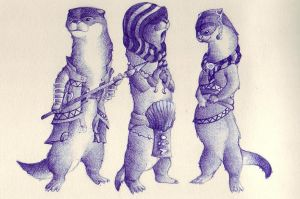 Otter sketchs by holy-descendant