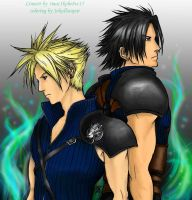 Cloud and Zack_coloring by Jokulhaupar