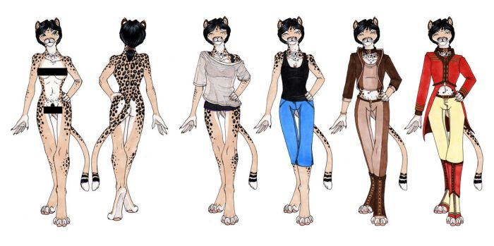 Kitty LePard Ref - SFW Version by o-WingedPanther-o