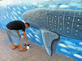 Whale shark mural WIP2 by AnthonyRojas