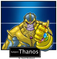 Thanos Mugshot by badgerlordstudios