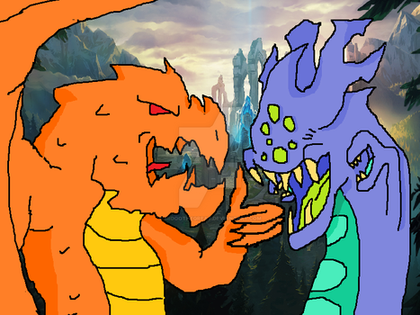 Baron Nashor and the Dragonlord by MidooTheGreat
