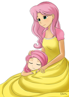 Fluttershy and her mom by kprovido