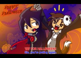 Jerra and Hiroshi Halloween by KitsuGuardian