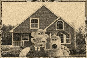 Wallace and Gromit Vintage Photograph by JanetAteHer