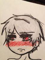 Blushing little chibi Prussia by CharakterFreak