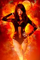 girl on fire by theenaLuv12
