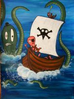 Pirate Worms by interstice-artisan