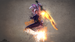 LoL - Battle Bunny Riven Wallpaper by xRazerxD