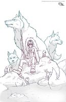 Princess Mononoke Lines by DarkKenjie