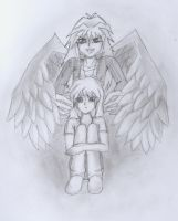 Bakura and Ryou by fluffy-cookie-lover