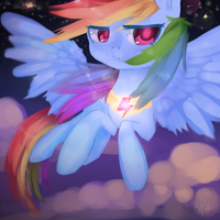 Loyalty~! Rainbow Dash SPEEDPAINT! by MarinaKirby