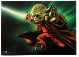 Master Yoda sketch card 2 by chrisfurguson