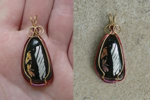 Hint of Wings Pendant by magpie-poet