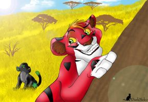 aki and pancho play by Dunkle-Katze