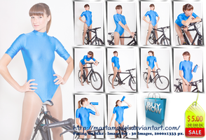 Posing on bike - Image set - 30 pics for US 5 by MartaModel