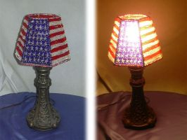 Patriotic Lampshade by Catwoman69y2k