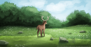 DAY 278. AN DEER! by Cryptid-Creations